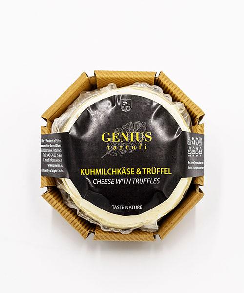 Verpackter Trüffelkäse (aus Kuhmilch)