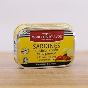 sardine mit Zitrone und chili