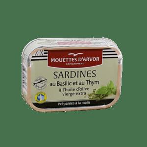 sardined mit basilic